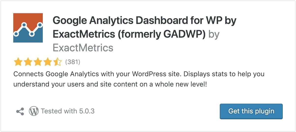 google analytics wordpress optimization plugin