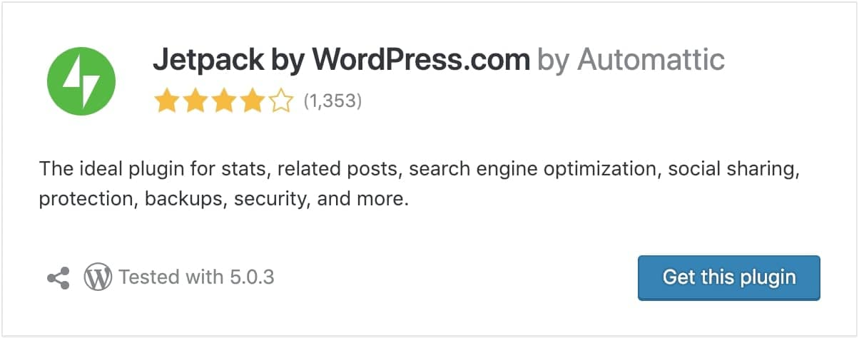 jetpack wordpress optimization plugin