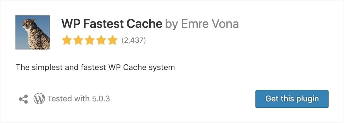 wp fastest cache wordpress optimization plugin