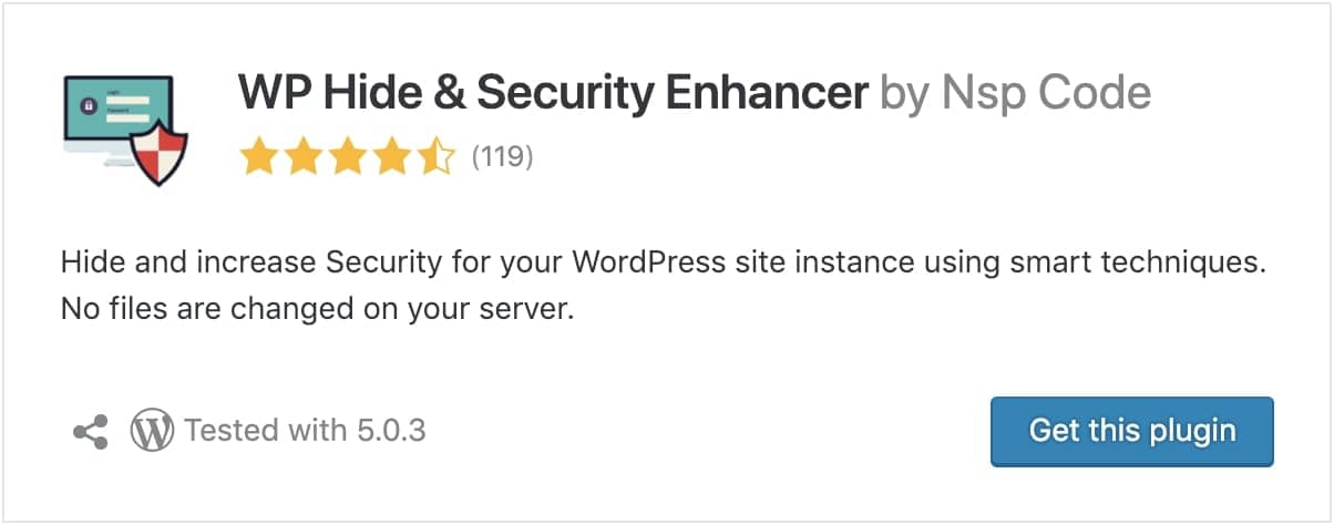 wp hide and security wordpress optimization plugin
