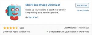 shortpixel image optimizer wordpress plugin graphic